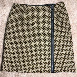 🎟Liz Claiborne Houndstooth Faux Wrap Skirt